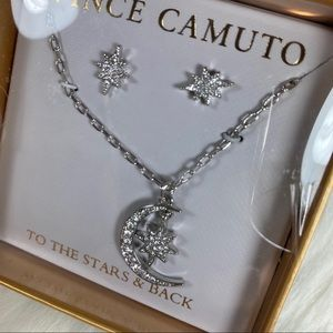 To the stars & back necklace star earrings silver